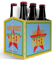 6 Pack Carrier Star includes plain 6 pack carrier and custom pre-cut labels