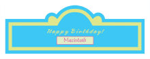 Dog Birthday Billboard Cigar Band Labels