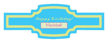Dog Birthday Buckle Cigar Band Labels