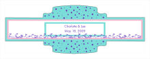 Polka Floral Wedding Buckle Cigar Band Labels