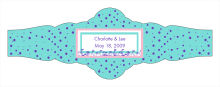 Polka Floral Wedding Fancy Cigar Band Labels