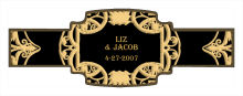 Renaissance Wedding Buckle Cigar Band Labels