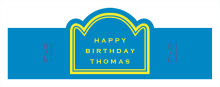 Simple Age Birthday Billboard Cigar Band Labels