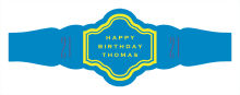Simple Age Birthday Fancy Cigar Band Labels