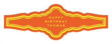 Simple Border Birthday Fancy Cigar Band Labels
