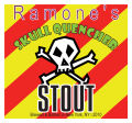 Skull Square Yellow Beer Labels
