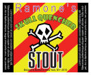 Skull Square Text Yellow Beer Labels