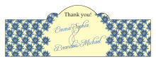 Floral Fairytale Flower Billbord Cigar Band Wedding Label